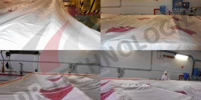 Installation des couvertures piscines BK du CNPE de Blayais