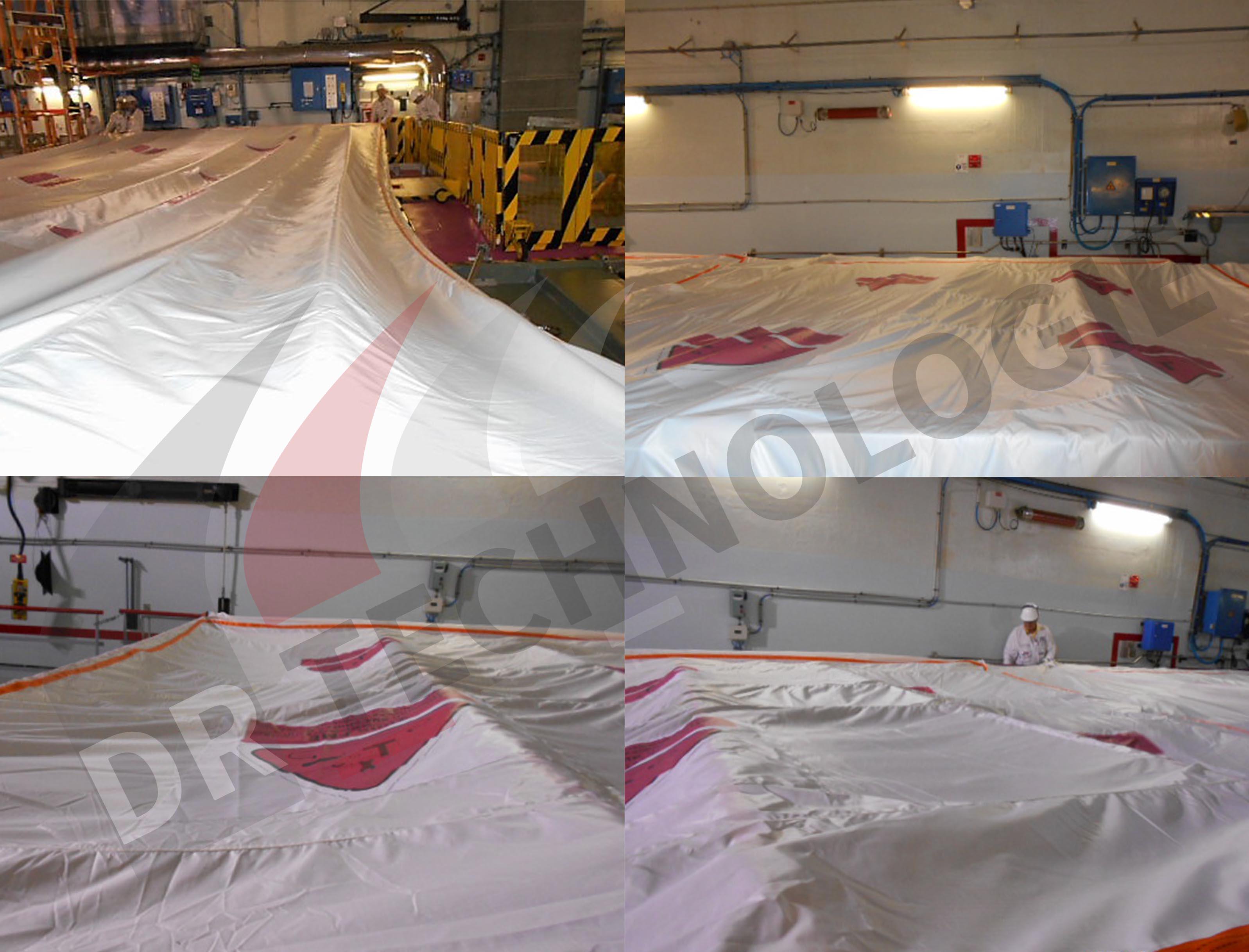 Installation des couvertures piscines BK du CNPE de Bugey