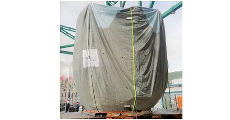 Housse de protection machine industrielle CNPE de Cruas