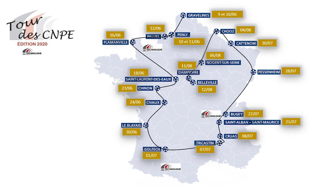 DR Technologie lance son édition 2020 Tour de France des CNPE