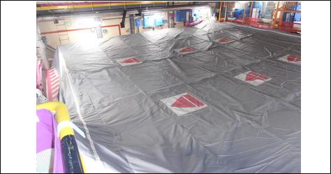 Couverture FME piscine St-Laurent par DR Technologie