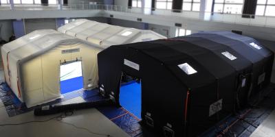 12 min de gonflage et 150 m² d'espace sécurisé