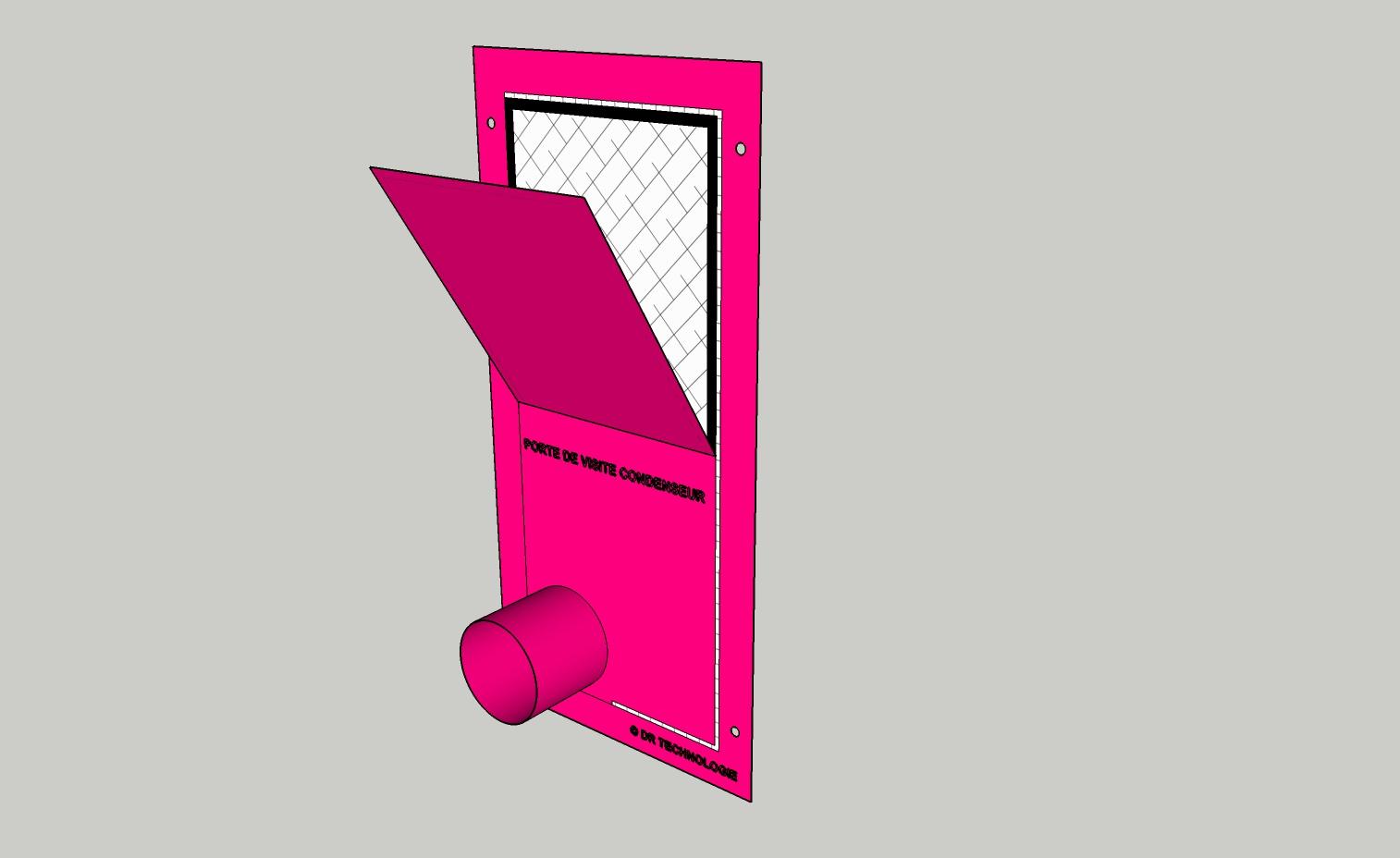Obturateur FME Porte de visite condenseur