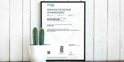 DR Technologie certifié ISO9001 !