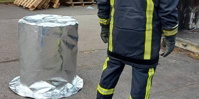 Housse M0 – on teste sa résistance à plus de 600°C